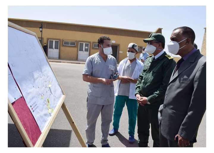 عامل إقليم ميدلت المصطفى النوحي في زيارة تفقدية لمركز الإغاثة للوقاية المدنية بمدينة الريش و مستشفى القرب بالريش.