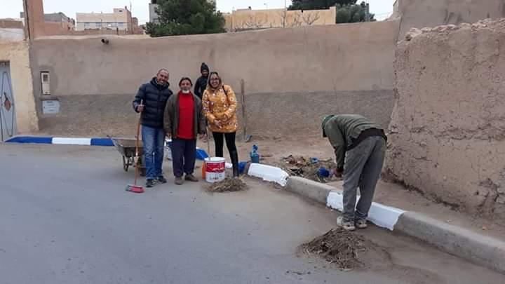 وتستمر حملة النظافة والصباغة بحي عثمان أموسى بميدلت…