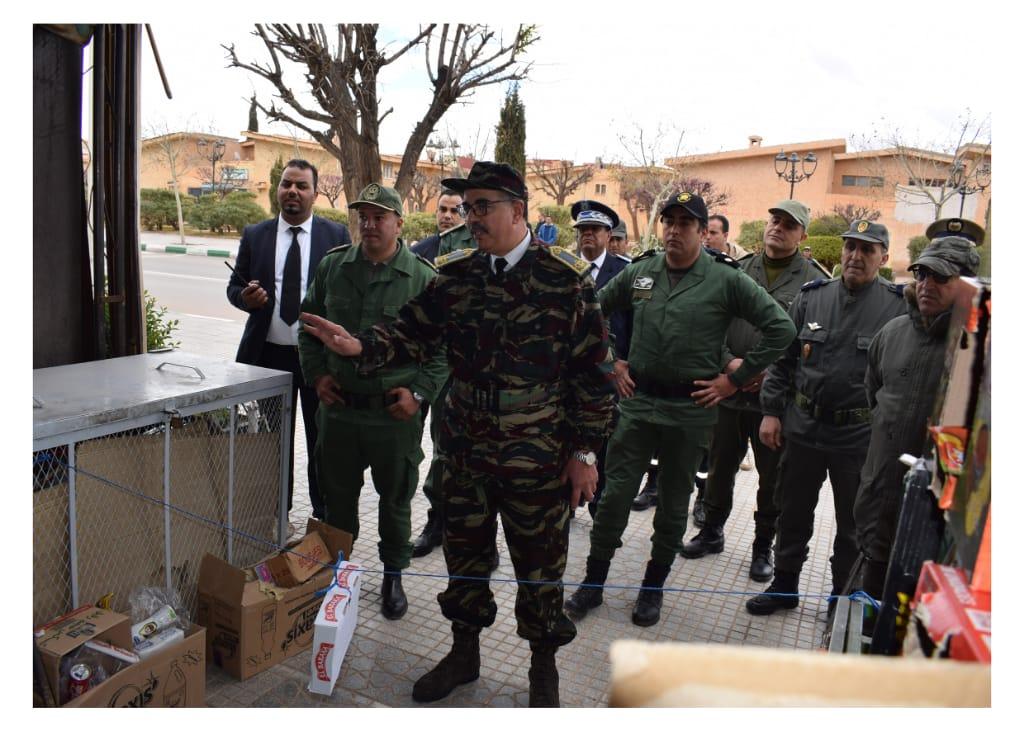 أنشطة عامل الإقليم والسلطات المحلية ليوم الاربعاء25 مارس2020.