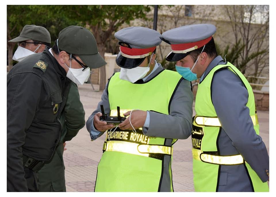الدرون يتولى مراقبة وتوجيه عمليات التعقيم بوسط مدينة ميدلت