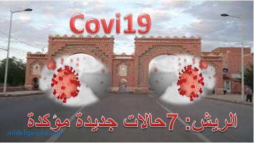 7حالات اصابة بكوفيد19 جديدة بالريش ترفع حصة الجهة الى 20حالة .
