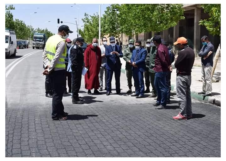 عامل الإقليم يعطي انطلاقة إعادة تهيئة اهم شوارع المدينة.