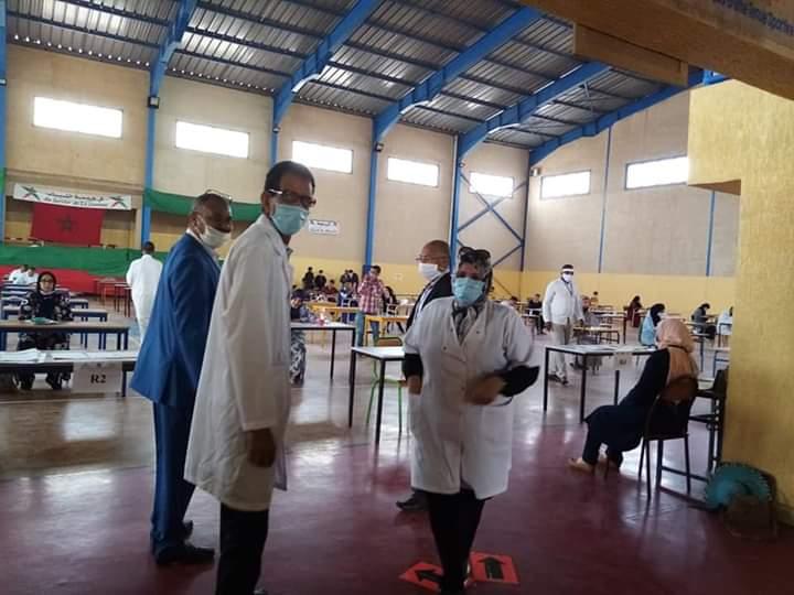 مندوبية الصحة بميدلت تنخرط في تدابير اجراء امتحانات الباكالوريا .