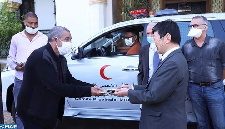 هبة يابانية للهلال الأحمر بميدلت لتعزيز خدمات الصحة العمومية والإسعافات الأولية.