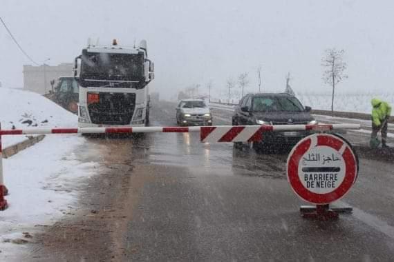 جديد حالة الطرق الرئيسية بتاريخ 6 دجنبر 2020 على الساعة الثانية زوالا: