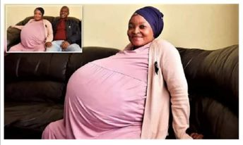 امرأة من جنوب افريقيا ذات37سنة تلد 10أطفال.